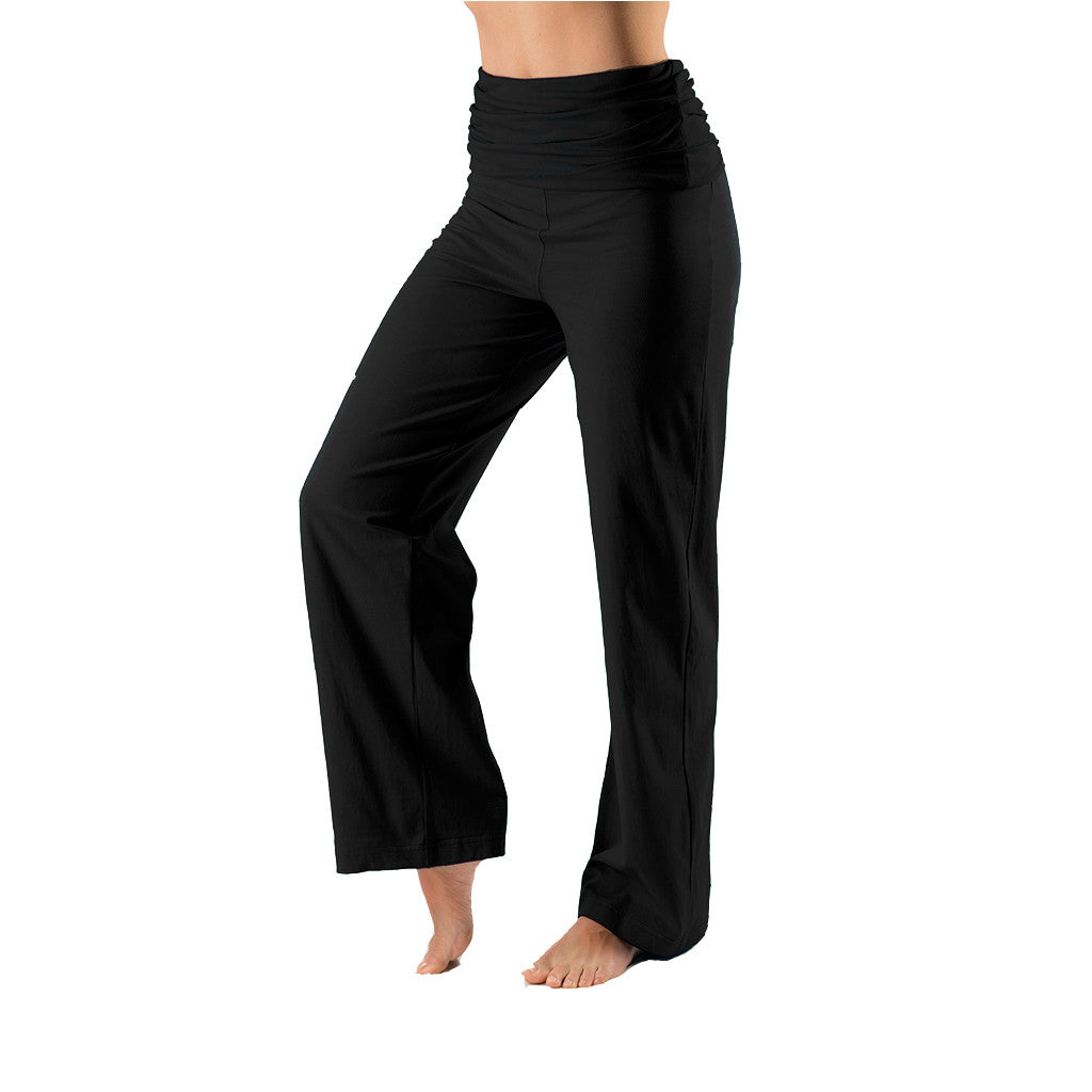 Fold Over Yoga Trouser - Gossypium