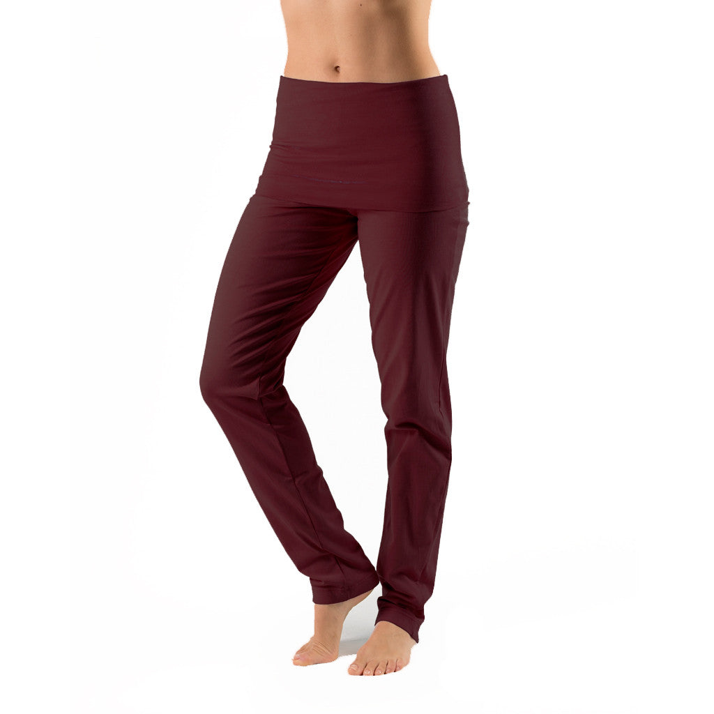Slim Leg Fold Over Trouser - Gossypium