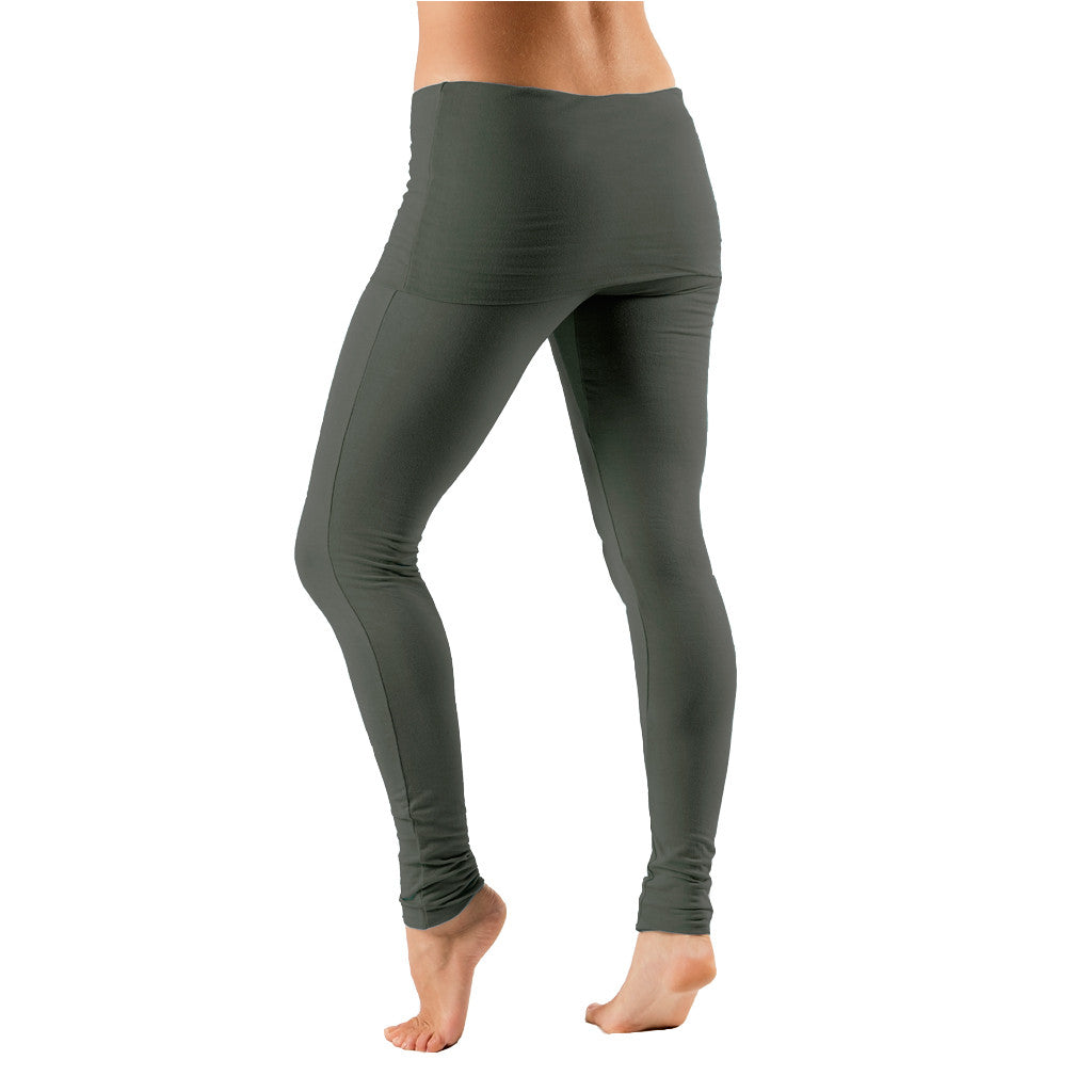 Fold Over Waist Leggings - Gossypium