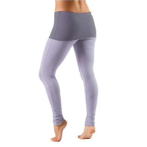 Bi Colour Fold Over Waist Leggings