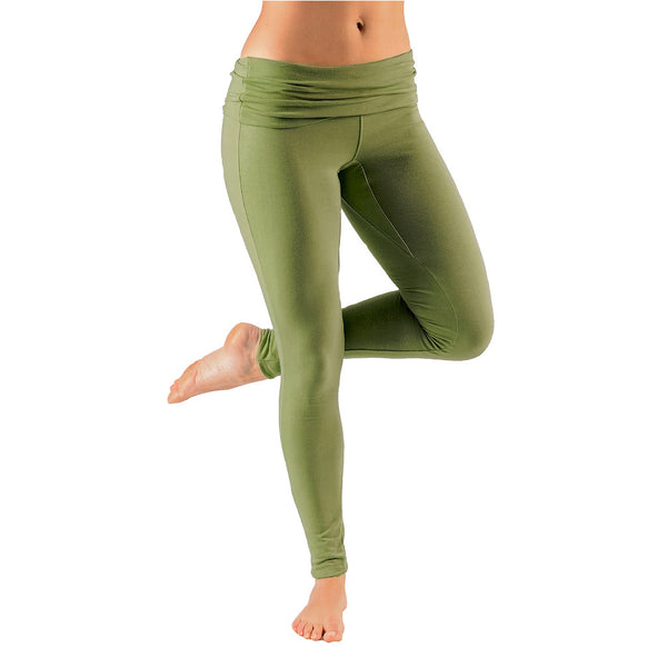 Mini Fold Over Waist Leggings - Buy Yoga Clothing Made In The  UK | Gossypium