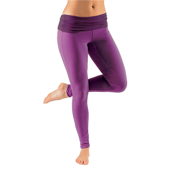 Bi Colour Mini Fold Over Waist Leggings