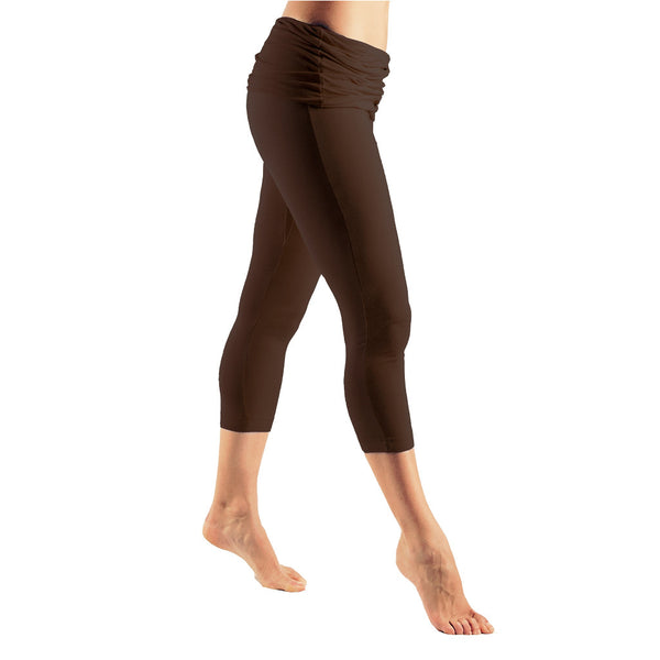 Fold Over Waist Capri Pants