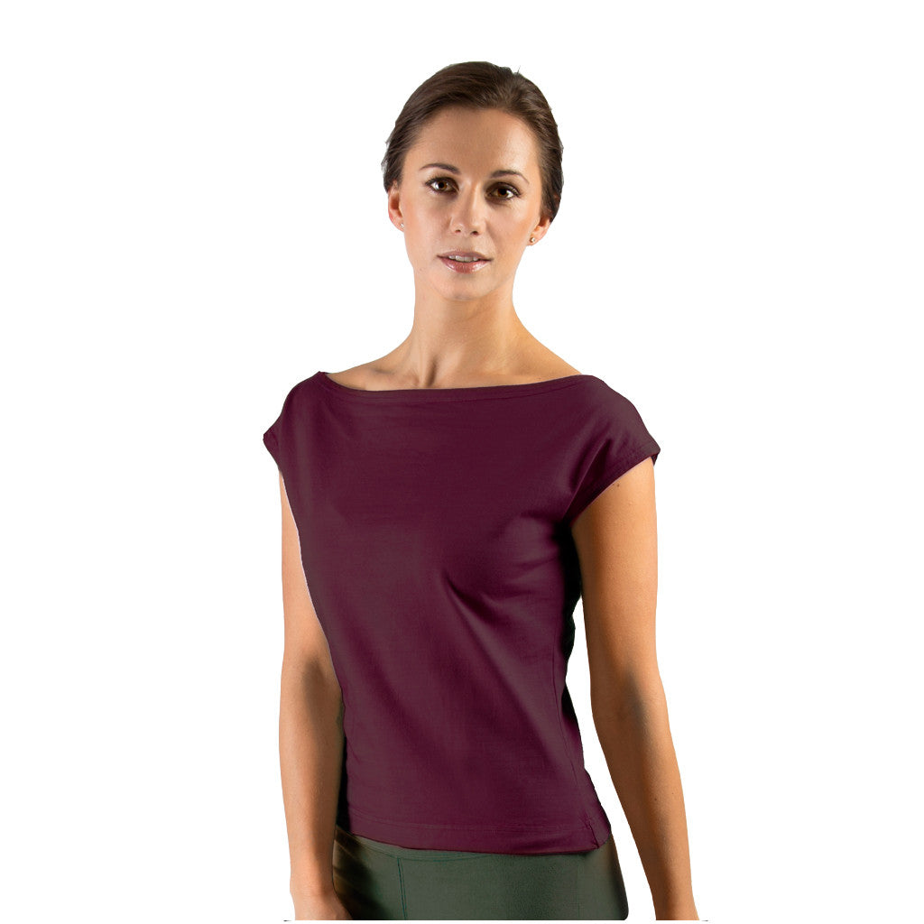 Slash Neck Top - Buy Yoga Clothing Made In The  UK | Gossypium