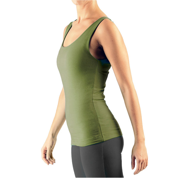 Scoop Neck Double Layer Vest - Buy Yoga Clothing Made In The  UK | Gossypium