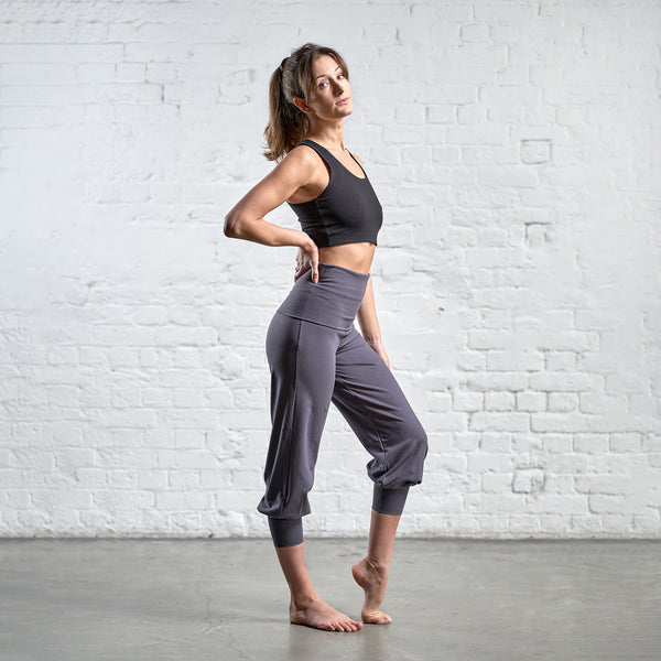 CROPPED FOLD OVER HAREM PANTS