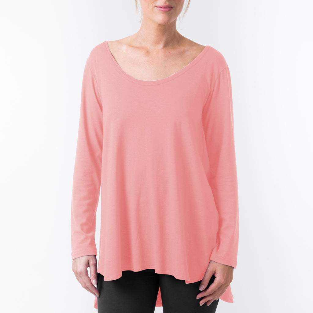 LONG SLEEVE SCOOP NECK YOGA TUNIC