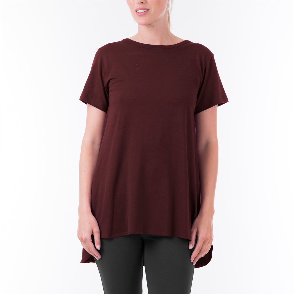 SHORT SLEEVE YOGA TUNIC