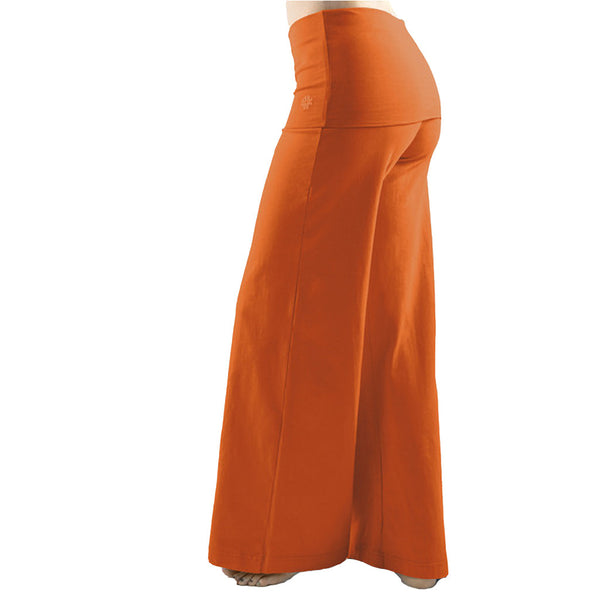 Wide Leg Fold Over Yoga Trousers