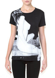 GIRL ON BLACK T-shirt - ONETSHIRT