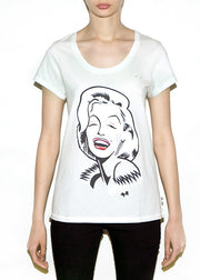 MARILYN, Celebrities by Michael Roberts, Women Wide Neck - ONETSHIRT