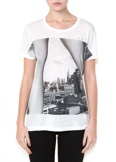 LEGS ON NYC, Olivier Zahm for ONETSHIRT, Women Oversize Fit T-shirt - ONETSHIRT