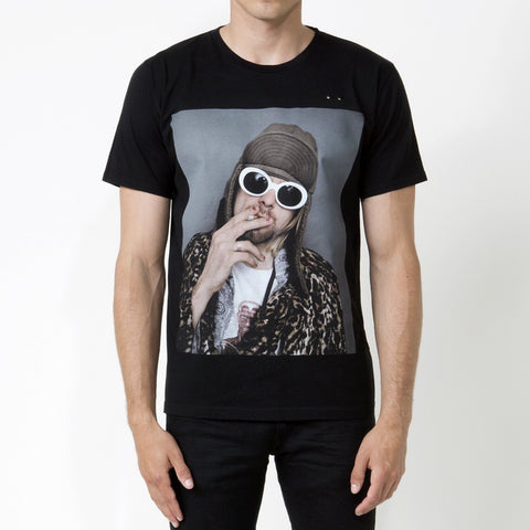 Kurt Cobain 1, Unisex Fit T-shirt Black