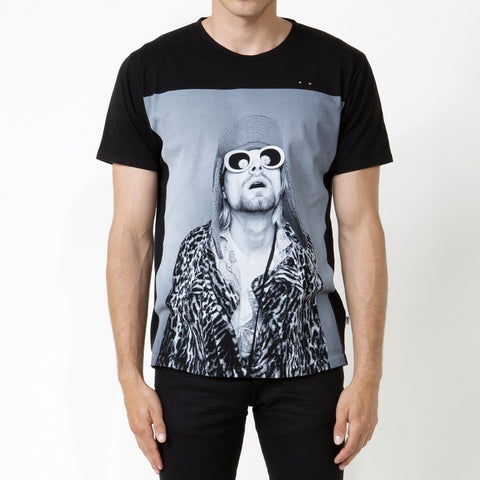Kurt Cobain 2, Unisex Fit T-shirt Black