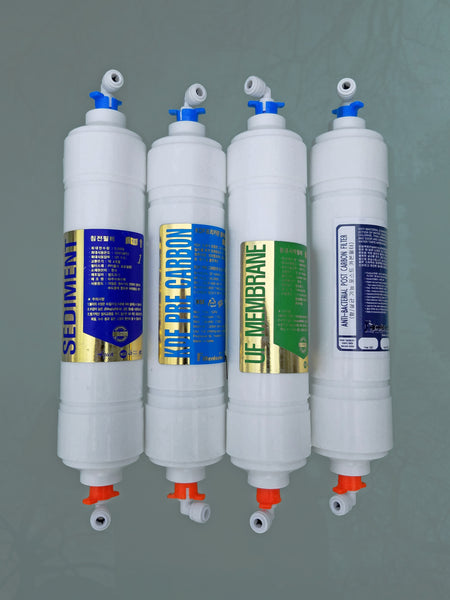 MAX SANITIZER includes  KDF UF + ANTIMICROBIAL with quick fittings