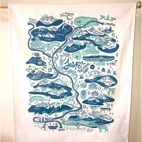 Jasper National Park Tea Towel