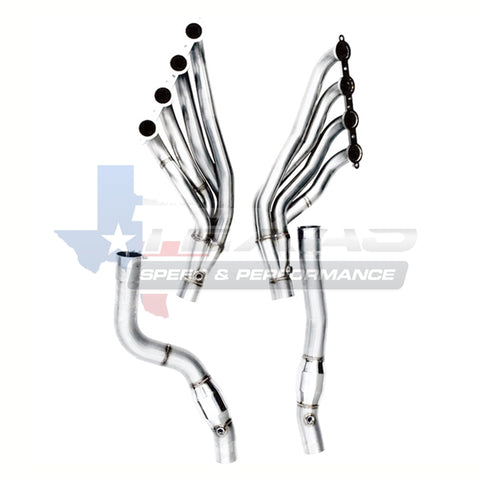 "Texas Speed and Performance 2009-2014 CTS-V 2"" 304 Stainless Steel Long Tube Headers and & 3"" Off Road X Pipe"