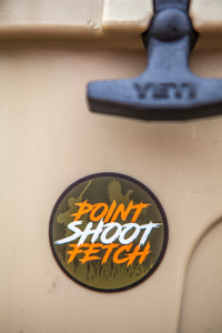 POINT SHOOT FETCH STICKER
