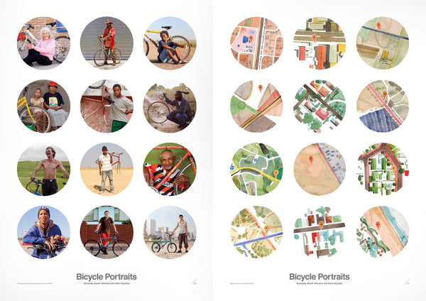 Bicycle Portraits signed limited edition poster set 1