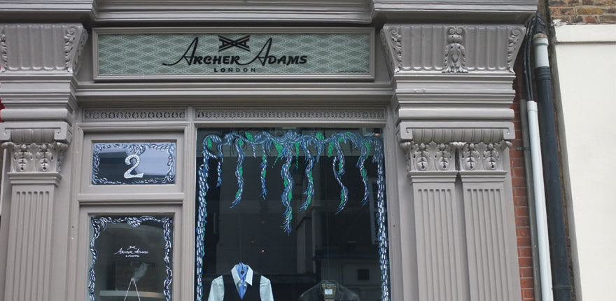 Archer Adams storefront in Marylebone London