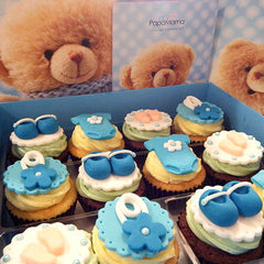 Box of 12 Cupcakes (Blue) - Papamama.sg