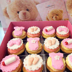 Box of 12 Cupcakes (Pink) - Papamama.sg