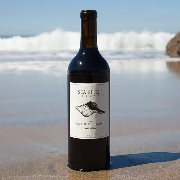 Sea Shell Cellars Cabernet Franc on the Paso Robles Beach