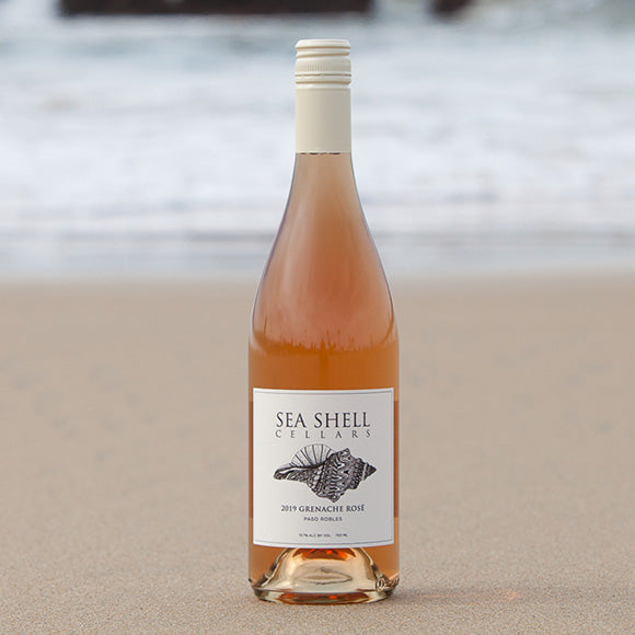 Sea Shell Cellars Grenache Rose on the Paso Robles Beach