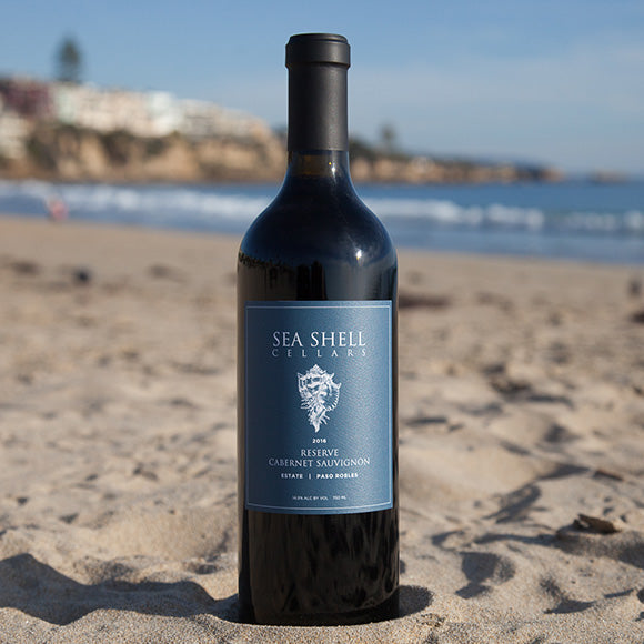 Sea Shell Cellars Reserve Cabernet on the Paso Robles Beach