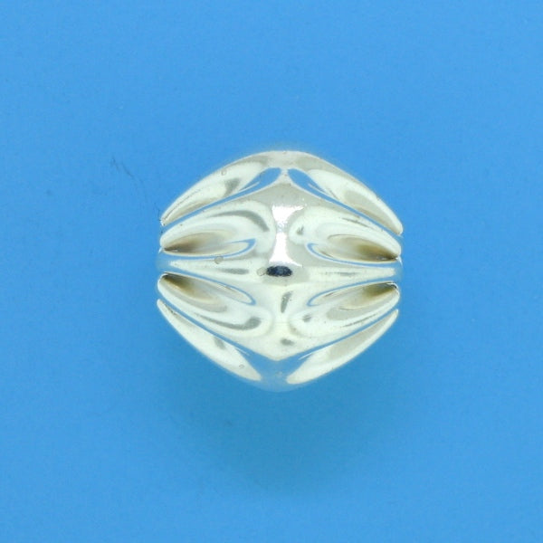 1243 - 11x11mm Sterling Silver Fancy Bead