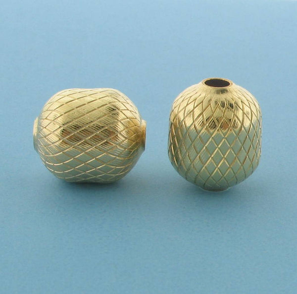 1069 - 11x13.2mm Gold Filled Fancy Bead