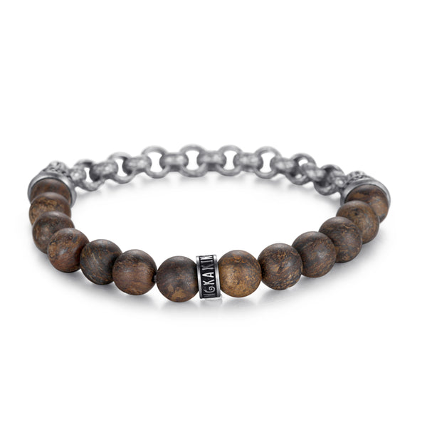 Men's Beaded Cable Chain Bracelet