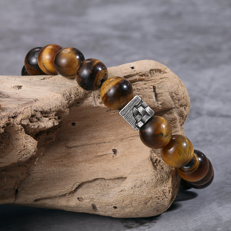 Natural Tiger Eye Beaded Bracelets for Mens