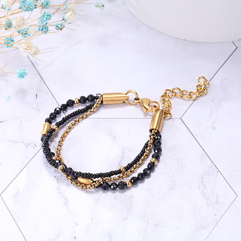Women Crystal Beaded Bracelet