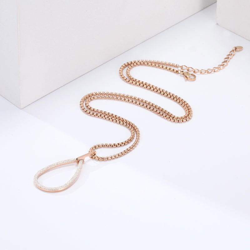 Women White Mineral Dust Sector Necklace