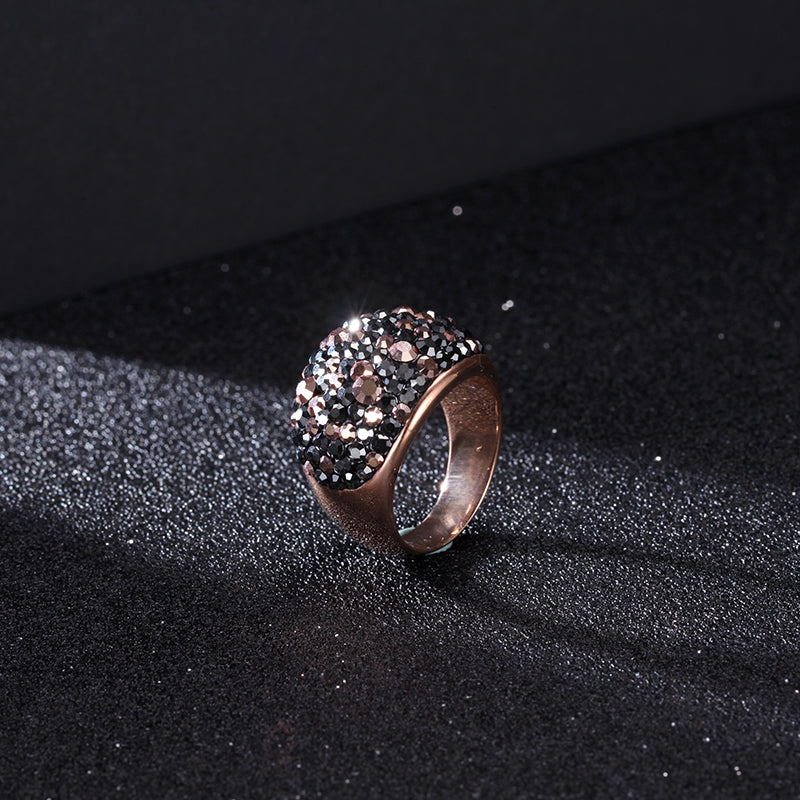 Women Stainless Steel Stone Ring