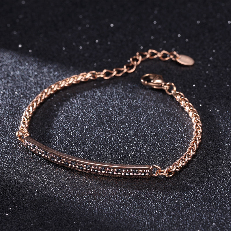 Women Stainless Steel Bracelet with Lobster Clasp