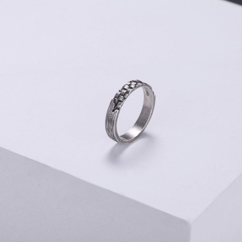 925 Silver Woven Ring For Mens Women