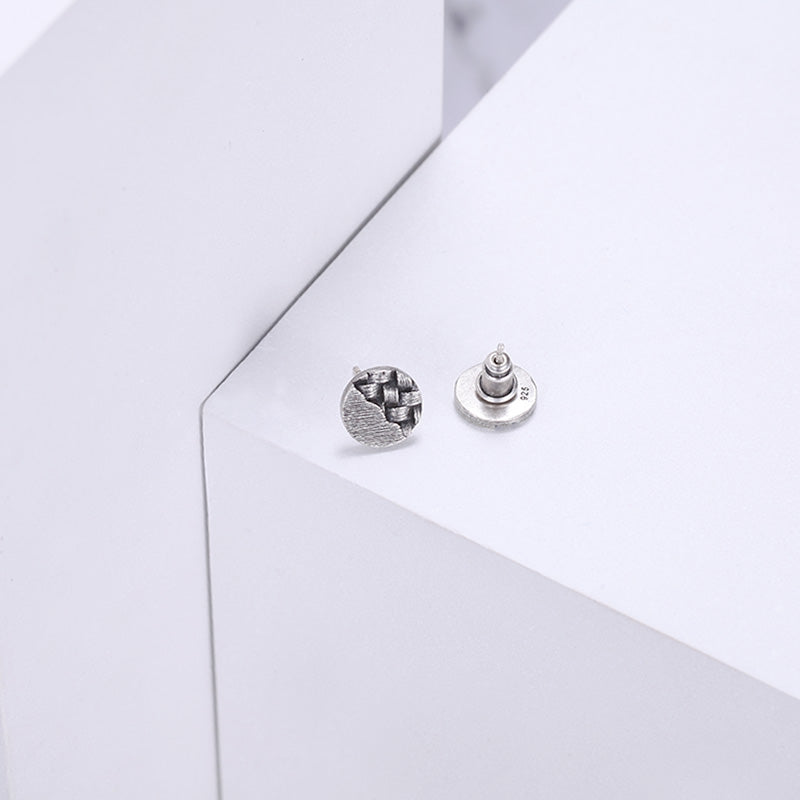 925 Silver Ear Studs Round