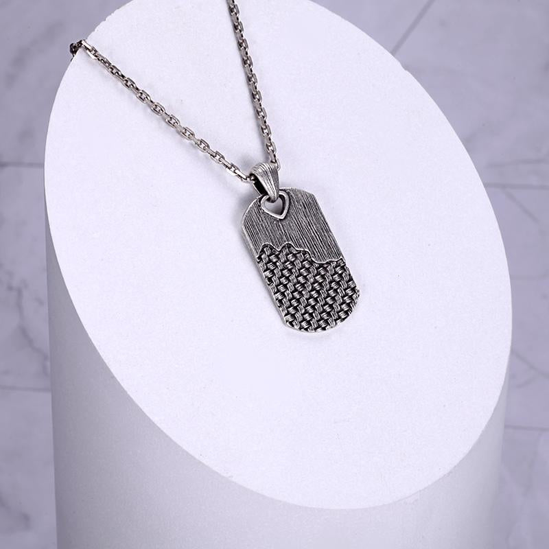 Sterling Silver Dog Tag Necklace Chains