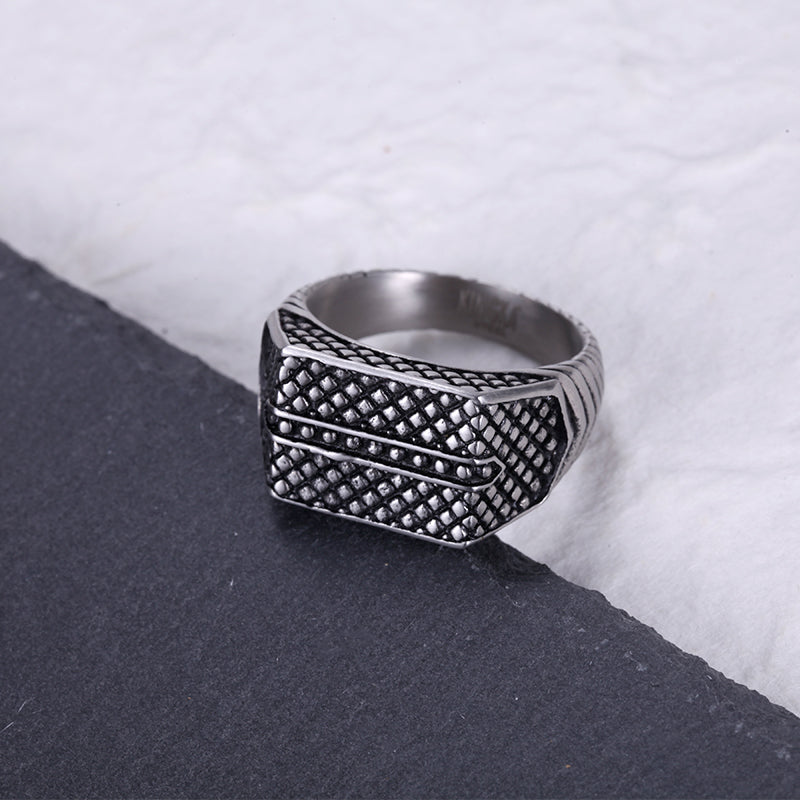 Mens Stainless Steel Signet Ring