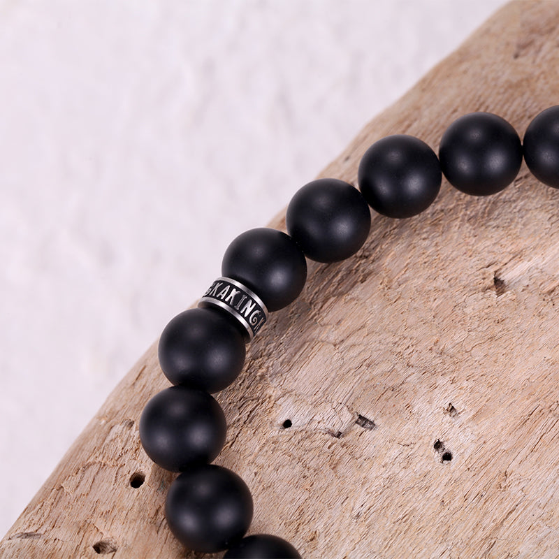 Black Onyx Bronzite Beaded Bracelets for Men