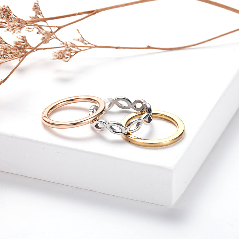 Women Stacking Rings Hollow-out