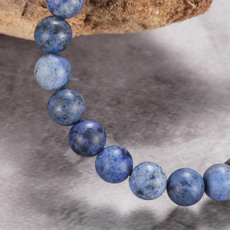 Mens Blue Dumortierite Stone Beaded Bracelets