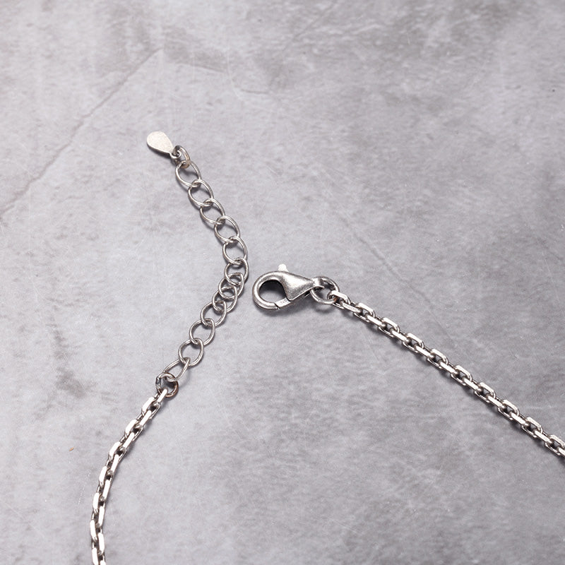 925 Silver Dog Tag Necklace for Mens