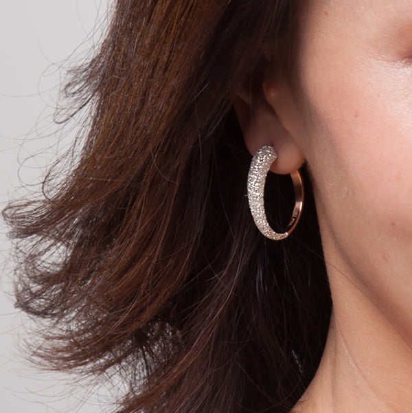 Women Earrings Stardust Hoop