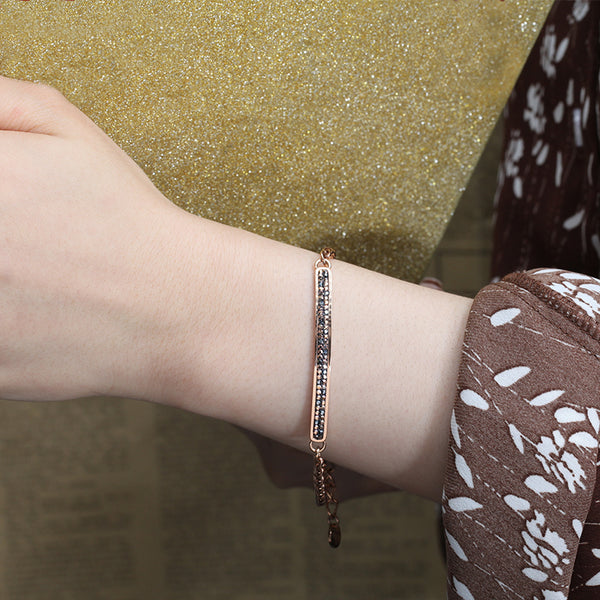Women Chain Bracelet Linear Crystal