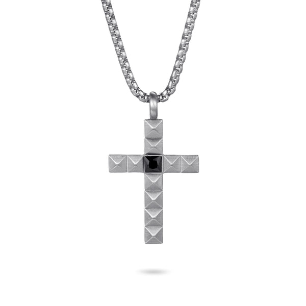 Men's Cross Necklace Pyramid