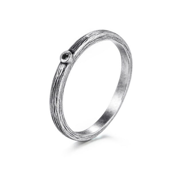 925 Silver Ring with Diamond - KINGKA Jewelry