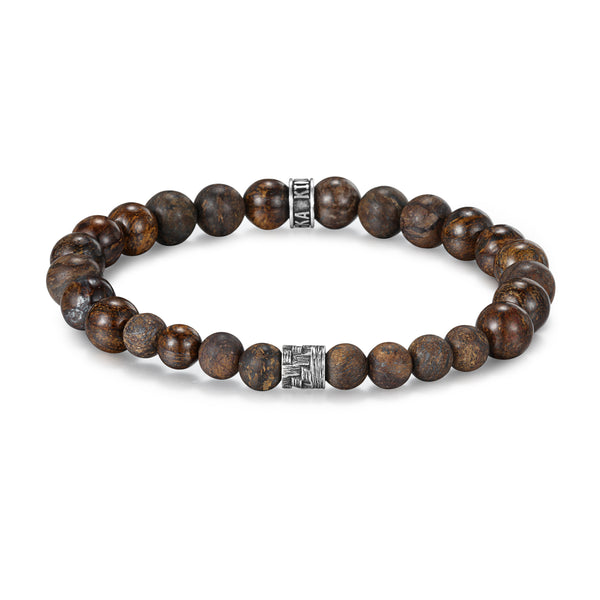 Men's Wristband with Bronzite